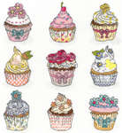 Click for more details of Summer Cup Cakes (cross-stitch) by Bothy Threads