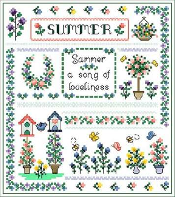 Click for more details of Summer Song (cross-stitch pattern) by Designs by Cathy