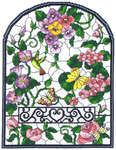 Click for more details of Summer Stained Glass Window (cross-stitch pattern) by Imaginating