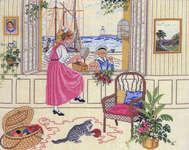 Click for more details of Summertime at the Seaside (cross-stitch) by Eva Rosenstand