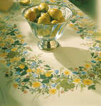 Click for more details of Summertime Table Cover (cross-stitch) by Eva Rosenstand