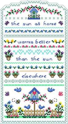 Click for more details of Sun at Home (cross-stitch) by Designs by Cathy