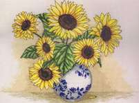 Click for more details of Sunflower Vase (cross-stitch kit) by Anchor