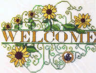 Click for more details of Sunflower Welcome (cross-stitch pattern) by MarNic Designs