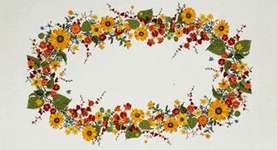 Click for more details of Sunflowers Table Cover (cross-stitch) by Eva Rosenstand