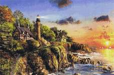Click for more details of Sunset at Craggy Point (cross stitch) by Kustom Krafts