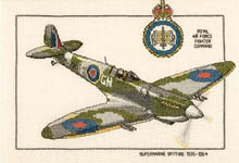 Click for more details of Supermarine Spitfire 1936-1954 (cross stitch) by Dave Shaw