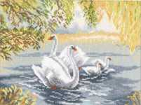Click for more details of Swan Lake (cross-stitch kit) by Lanarte