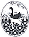 Click for more details of Swan Reflections (blackwork pattern) by Berlin Embroidery Designs
