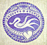 Click for more details of Swan Roundel (cross-stitch pattern) by The Workbasket