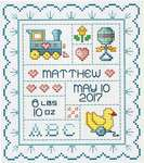 Click for more details of Sweet Baby (cross stitch) by Sue Hillis Designs