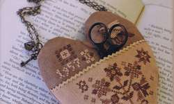 Click for more details of Sweetheart Pocket (cross stitch) by Blackbird Designs