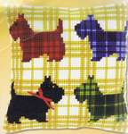 Click for more details of Tartan Scotties Cushion (tapestry kit) by Vervaco