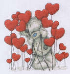 Click for more details of Tatty Teddy - Hearts (cross-stitch kit) by Anchor