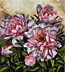 Click for more details of Tender Peonies (cross stitch) by Merejka