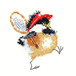 Click for more details of Tennis Chick (cross-stitch kit) by Valerie Pfeiffer