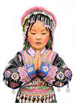 Click for more details of Thai Hilltribe Girl (cross-stitch kit) by Lanarte