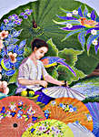 Click for more details of Thai Parasol Painting (cross stitch) by Pinn Stitch