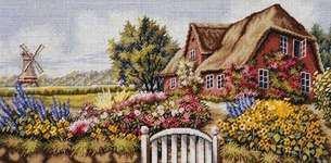Click for more details of Thatched House (tapestry kit) by Rico Design