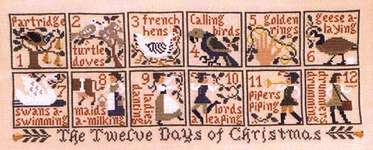 Click for more details of The 12 Days of Christmas (cross stitch) by The Prairie Schooler