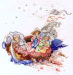 Click for more details of The Baby Boat (cross-stitch pattern) by Mirabilia Designs