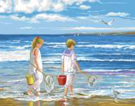 Click for more details of The Beach (tapestry) by Royal Paris