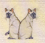 Click for more details of The Cat Afghan (cross stitch) by Graphworks International