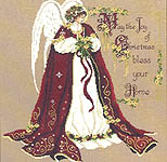 Click for more details of The Christmas Blessing Angel (cross-stitch pattern) by Passione Ricamo