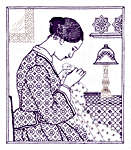 Click for more details of The Embroideress (blackwork) by Classic Embroidery