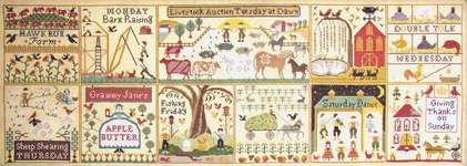 Click for more details of The Farms of Hawk Run Hollow (cross stitch) by Carriage House Samplings