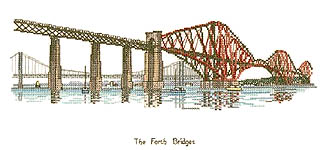 Click for more details of The Forth Bridges (cross-stitch pattern) by Sue Ryder