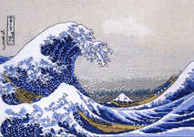 Click for more details of The Great Wave off Kanagawa (cross-stitch) by maia