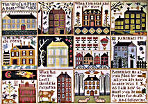 Click for more details of The Houses at Hawk Run Hollow (cross stitch) by Carriage House Samplings