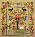 Click for more details of The Industrious Bee Sampler (cross stitch) by Theron Traditions