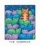 Click for more details of The Insomniac (cross stitch) by Peter Underhill