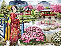 Click for more details of The Japanese Garden (cross stitch) by maia