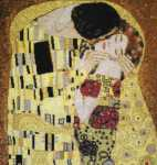 Click for more details of The Kiss by Gustav Klimt (cross-stitch pattern) by The Fine Arts Heritage Society