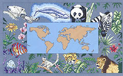 Click for more details of The Living Planet (cross-stitch pattern) by Vickery Collection