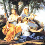 Click for more details of The Muses - Clio, Euterpe and Thalia (cross-stitch pattern) by Kustom Krafts