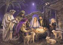 Click for more details of The Nativity (cross stitch) by Heaven and Earth Designs
