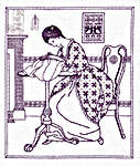 Click for more details of The Needlewoman (blackwork) by Classic Embroidery