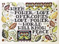 Click for more details of The Power of Love (cross stitch) by Stoney Creek