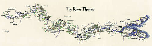 Click for more details of The River Thames (cross-stitch pattern) by Sue Ryder