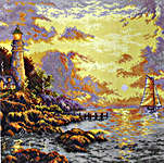 Click for more details of The Sea of Tranquility (cross stitch) by Thomas Kinkade