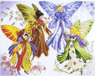 Click for more details of The Seasons of Fairies (cross-stitch kit) by Royal Paris