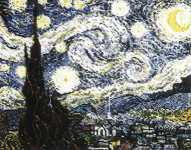 Click for more details of The Starry Night by Vincent van Gogh (cross-stitch pattern) by The Fine Arts Heritage Society