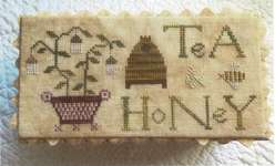 Click for more details of The Tea Box (cross stitch) by Lucy Beam