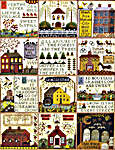 Click for more details of The Village at Hawk Run Hollow (cross stitch) by Carriage House Samplings