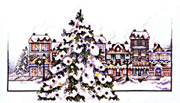 Click for more details of The Village Tree (cross-stitch pattern) by Stoney Creek