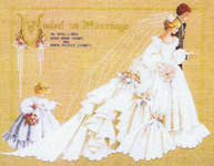 Click for more details of The Wedding (cross-stitch pattern) by Lavender & Lace